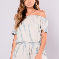 Soft Flush Romper - Mint