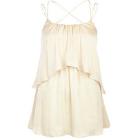 River Island Womens Cream double layer cami top