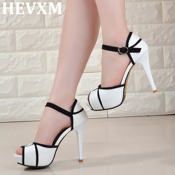 Peep-toe Pumps Sexy 11CM Super High Heels