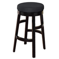 "Halo 30"" Barstool in Black Microfiber"