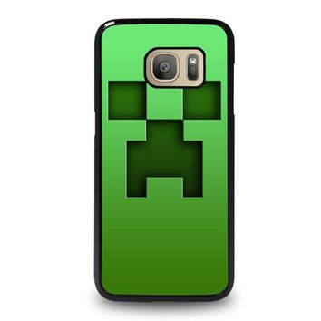 creeper minecraft samsung galaxy s7 case cover  number 1