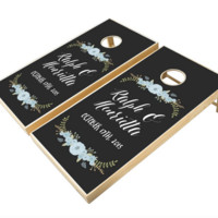 Personalized Cornhole Set for Outdoor Wedding Game