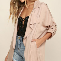 Lucky Break Blush Oversized Jacket