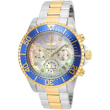 Invicta Men's 22038 Pro Diver Quartz Chronograph Platinum Dial Watch