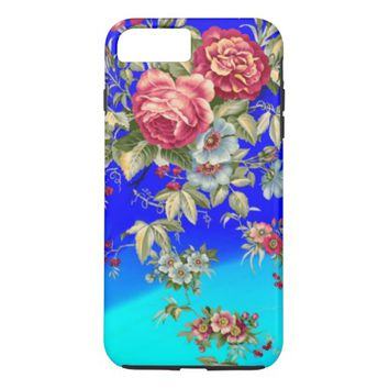 pretty vintage red flowers case