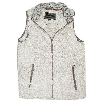 Frosty Tipped Double Up Vest in Putty by True Grit - FINAL SALE