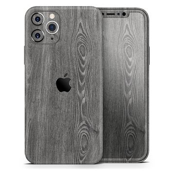 Smooth Gray Wood V2 - Skin-Kit for the Apple iPhone 11, 11 Pro or 11 Pro Max