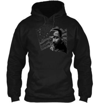 Martin Luther King Day Patriot USA Flag Pride Pullover Hoodie 8 oz