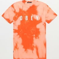 OBEY Anyway Bleach Tie-Dyed T-Shirt at PacSun.com