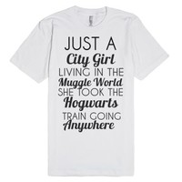 city girl regular t-shirt-Unisex White T-Shirt