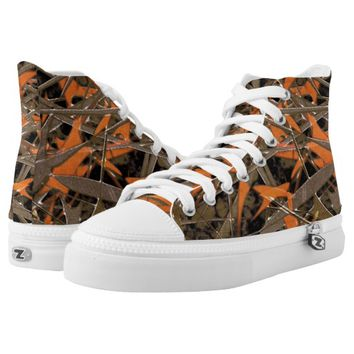 Expressive Abstrac Print High Top Shoes Printed Shoes