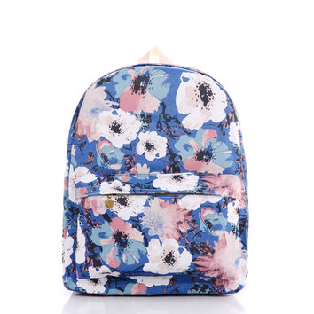 Print Canvas Backpack = 4887404292