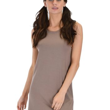 Lyss Loo All Yours Open Back Taupe Sleep Shirt