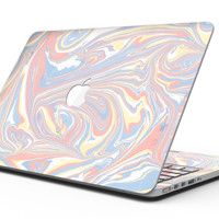 Marbleized Swirling Fun Coral - MacBook Pro with Retina Display Full-Coverage Skin Kit