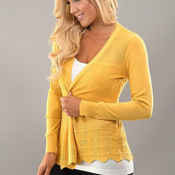 It's all in the Details Cardigan - Mustard
