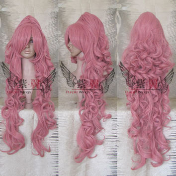 Luka Vocaloid 100cm Long Wavy Wig Pink Wig Anime Cosplay Wig Heat Resistant Free Shipping