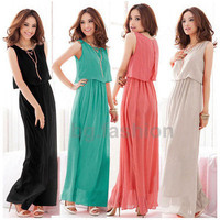 2013 New Sexy Women Princess Bohemian Boho Chiffon Long Maxi Evening Party Dress
