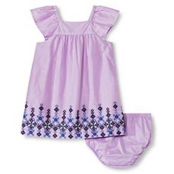 Baby Girls' Embroidered Lawn Dress Purple - Cherokee®