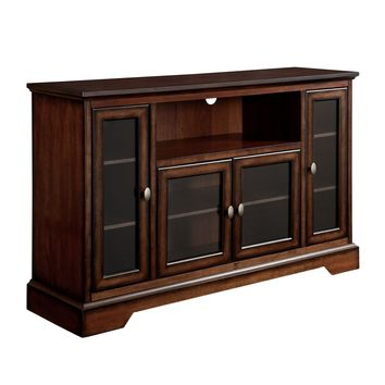 "52"" Brown Wood Highboy TV Stand"