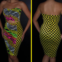 Hot Pencil skirt and bandeau top set ...MULTI COLOR animal print no 2