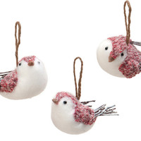 The Wooly Bird Girls Set Of 3 Holiday Accents