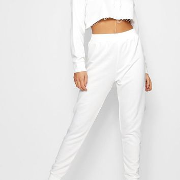 Bella Athleisure Crop Loop Back Tracksuit | Boohoo