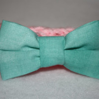 Pink and Tiffany Blue Bow headband - Infant- Adult headband- Ready to ship, Photo Prop Pick one, or set
