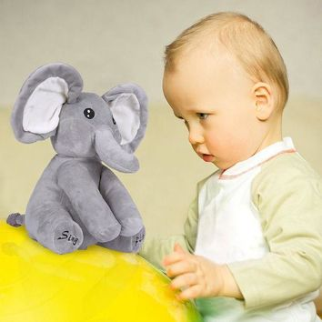 ICIKU7Q Elephant Plush Toy Sing and Play Elephant Plush Stuffed Toys