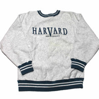 Vintage 80s Harvard University Crewneck Sweatshirt Made in USA Mens Size Medium