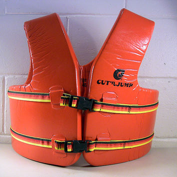 Vintage Life Jacket Water Ski Vest Beach Sports Decor