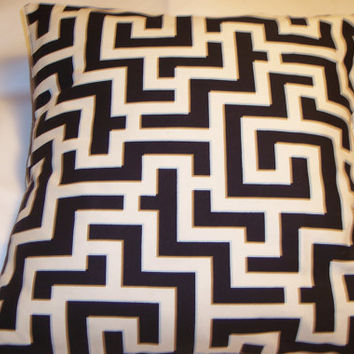 Decorative Pillow Cover, Throw pillow Cover Single 18 x 18 Black and White