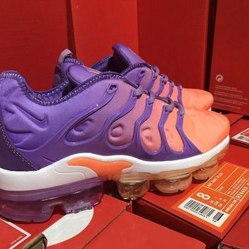 Women Nike 2018 Tn Air Vapormax Plus Vascular Purple/orange Gradient Shoe 36 39 | Best Deal Online