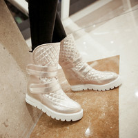 Velcro Ankle Boots Platform Wedges Women Shoes Fall|Winter 11191501