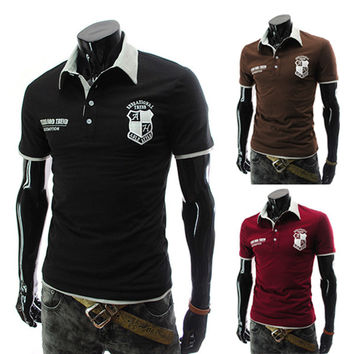Latest Trend Men's Fashion Slim Fit Polo Shirt