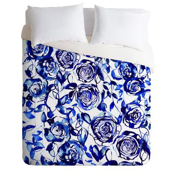 Holly Sharpe Painted Blue Duvet Cover