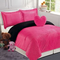 China Fortune LLC Sparkle Pink Mini Comforter Set Comforter Sets