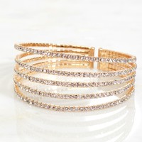 Stacked Crystal Bracelet Gold