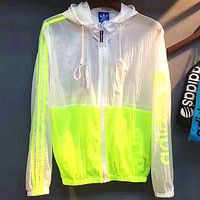 ADIDAS Fashion three stripe long sleeve splicing prevent bask in clothes 5 color 4 size G-A-KSFZ