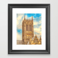 Central Tower of Lincoln Cathedral Framed Art Print by Linsey Williams Wall Art, Clothing, And