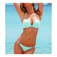 Push-Ups Swimwear Swimsuit Bathing Suit Bikini  light blue