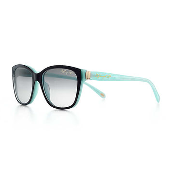 Tiffany & Co. - Tiffany 1837™ square sunglasses in black and Tiffany Blue acetate.