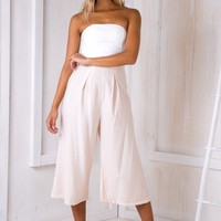 Lotus jumpsuit - White/Light apricot - Stelly