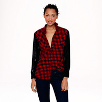 COLLECTION SEQUIN-SLEEVE SHIRT IN GINGHAM