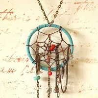 Chained Dream Catcher Necklace