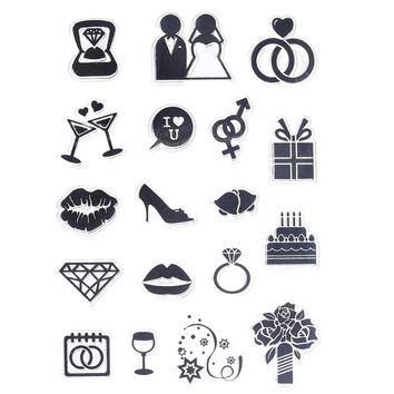 CCINEE 1PCS Wedding Style Transparent Clear Stamp  DIY Silicone Seals Scrapbooking/Card Making/Photo Album Decoration Supplies