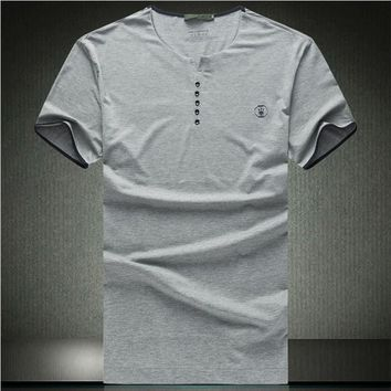 Free shipping XXXL 6XL 8XL Slim Casual t shirt men V-neck Chinese style Linen cotton Camisa masculina Big size t-shirt men