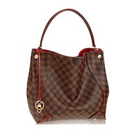 Louis Vuitton crossbody  handbag  Classic  Simple  Wanelo  ladies  fashion Best Seller formal Damier Canvas Caïssa Hobo Handbag Cherry Article:N41555 Made in France
