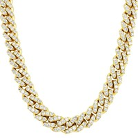 """Men's Iced Out 12mm Miami Cuban Choker Custom 18-24"""" Necklace"""