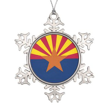 Snowflake Ornament with Arizona Flag