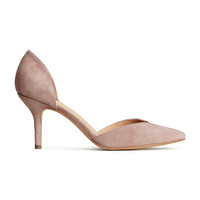 H&M - Suede Pumps - Powder beige - Ladies